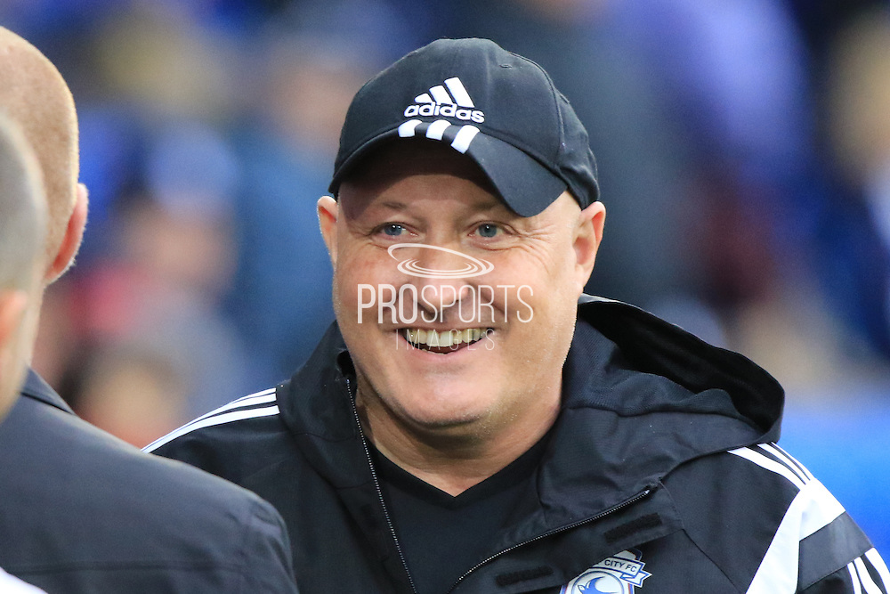 Cardiff City manager Russell Slade during the Sky Bet Championship match between Cardiff City and Burnley at the Cardiff City Stadium, Cardiff, Wales on 28 November 2015. Photo by Jemma Phillips.