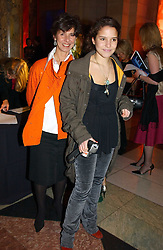 Left to right, MRS STEPHEN BAYLEY and her daughter MISS COCO BAYLEY at a party to launch 'Beauty Week' at the V&A in association with Estee Lauder- a special week of debates, talks and performances celebrating beauty on 24th January 2005.<br /><br />NON EXCLUSIVE - WORLD RIGHTS