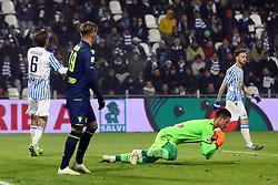 """Foto /Filippo Rubin<br /> 26/12/2018 Ferrara (Italia)<br /> Sport Calcio<br /> Spal - Udinese - Campionato di calcio Serie A 2018/2019 - Stadio """"Paolo Mazza""""<br /> Nella foto: JUAN MUSSO (UDINESE)<br /> <br /> Photo /Filippo Rubin<br /> December 26, 2018 Ferrara (Italy)<br /> Sport Soccer<br /> Spal vs Udinese - Italian Football Championship League A 2018/2019 - """"Paolo Mazza"""" Stadium <br /> In the pic: JUAN MUSSO (UDINESE)"""