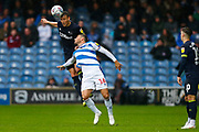 County's Defender Craig Forsyth & Rangers Tomer Hemed during the EFL Sky Bet Championship match between Queens Park Rangers and Derby County at the Loftus Road Stadium, London, England on 6 October 2018.