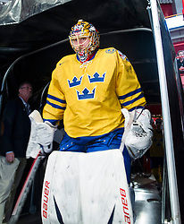 08.05.2013, Globe Arena, Stockholm, SWE, IIHF, Eishockey WM, Schweden vs Norwegen, im Bild Jakob Markstr©m // during the IIHF Icehockey World Championship Game between Sweden and Norway at the Ericsson Globe, Stockholm, Sweden on 2013/05/08. EXPA Pictures © 2013, PhotoCredit: EXPA/ PicAgency Skycam/ Johan Andersson..***** ATTENTION - OUT OF SWE *****