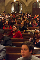 """The University of Chicago held the 28th Annual Martin Luther King Jr. Celebration Tuesday, January 16th, 2018 at Rockefeller Chapel located at 5850 S. Woodlawn. The keynote speaker for the celebration was Dorothy Butler Gillam who, in 1961 became the first African American female reporter for at the Washington Post. Her talk was preceded by a selection of spirituals by the Chicago Children's Choir which was founded in 1956 during the height of the civil rights movement and whose purpose was to confront civil rights issues through music.<br /> <br /> Please 'Like' """"Spencer Bibbs Photography"""" on Facebook.<br /> <br /> Please leave a review for Spencer Bibbs Photography on Yelp.<br /> <br /> All rights to this photo are owned by Spencer Bibbs of Spencer Bibbs Photography and may only be used in any way shape or form, whole or in part with written permission by the owner of the photo, Spencer Bibbs.<br /> <br /> For all of your photography needs, please contact Spencer Bibbs at 773-895-4744. I can also be reached in the following ways:<br /> <br /> Website – www.spbdigitalconcepts.photoshelter.com<br /> <br /> Text - Text """"Spencer Bibbs"""" to 72727<br /> <br /> Email – spencerbibbsphotography@yahoo.com"""