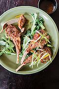 Grilled marinated lamb chop (chien sach chien) at The Royal Dynasty restaurant at the Raffles Grand Hotel d'Angkor, Siem Reap
