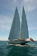 Andre Hoek designed 175 foot Sister ships, Adele and Erica sailing together on the Hauraki Gulf, Auckland New Zealand. 1/2/2011