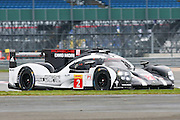 2 LMP1 Porsche Team / Porsche 919 Hybrid / Romain Dumas / Neil Jani / Marc Leib during the FIA World Endurance Championship at Silverstone, Towcester, United Kingdom on 15 April 2016. Photo by Craig McAllister.