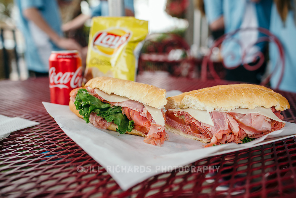 The Special Italian sandwich is packed with prosciutto, mortadella, capicola, genoa salami with lettuce and tomato.<br />