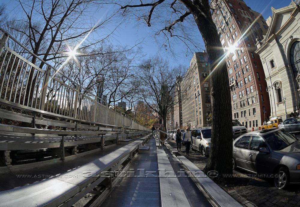 New York City, pedestrians on Central Park West Ave.