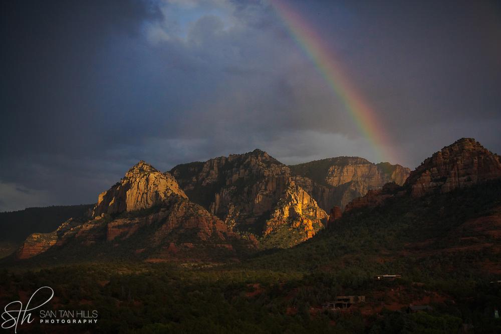 Rainbow Tempest over Sedona, AZ