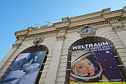 "Vienna. MuseumsQuartier (MQ Vienna) is celebrating its 10th year..""Space - The Art and a Dream"" exhibition at Kunsthalle."