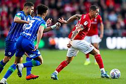 Pedro Pereira of Bristol City is challenged by Antonee Robinson of Wigan Athletic - Rogan/JMP - 27/10/2019 - Ashton Gate Stadium - Bristol, England - Bristol City v Wigan Athletic - Sky Bet Championship.