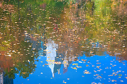 Central Park Pond with Autumn reflections