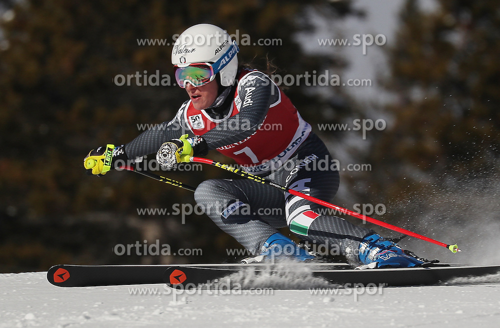 01.12.2016, Lake Louise, USA, FIS Weltcup Ski Alpin, Lake Louise, Abfahrt, Damen, Training, im Bild Nadia Fanchini // during the practice run of women's Downhill of the Lake Louise FIS Ski Alpine World Cup. Lake Louise, Austria on 2016/12/01. EXPA Pictures &copy; 2016, PhotoCredit: EXPA/ SM<br /> <br /> *****ATTENTION - OUT of GER*****