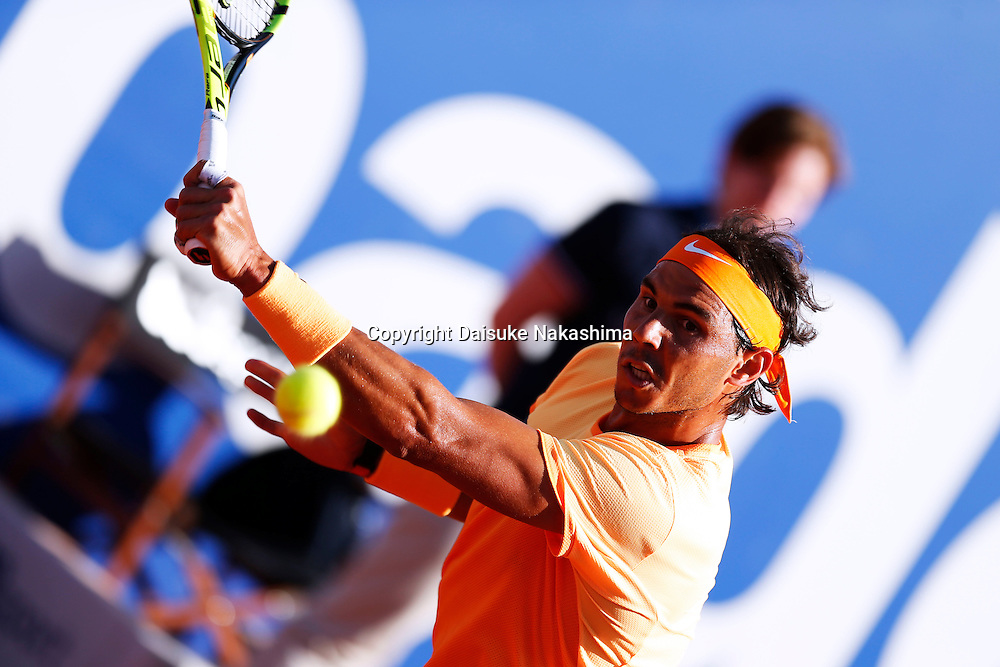 Rafael Nadal (EPS), APRIL 24, 2016 - Tennis : The ATP 500 World Tour Barcelona Open Banco Sabadell tennis tournament during mens singls final match between Rafael Nadal and Kei Nishikori at the Real Club de Tenis in Barcelona, Spain, (Photo by D.Nakashima/AFLO)