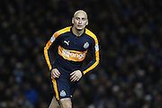 Newcastle United midfielder Jonjo Shelvey (12) during the EFL Sky Bet Championship match between Brighton and Hove Albion and Newcastle United at the American Express Community Stadium, Brighton and Hove, England on 28 February 2017. Photo by Bennett Dean.