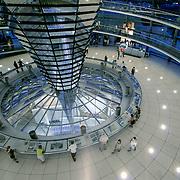 Beriln reichstag dome spiral, Berlin, Germany (June 2007)