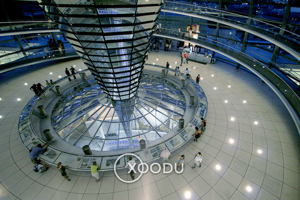Beriln reichstag dome spiral, Berlin, Germany (June 2007)