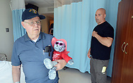 Ken Keene Sr. (left) and his son Ken Keene Jr. speak about living with early onset dementia Thursday, August 31, 2017 at the Delaware Valley Veterans Home in Philadelphia, Pennsylvania. (WILLIAM THOMAS CAIN / For The Philadelphia Inquirer)