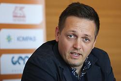 Aleksander Sekulic, head coach of KK Primorska, at press conference before new season of KZS Nova KBM League 2016/17, on October 05, 2016, in Radisson Blu Plaza Hotel, Ljubljana. Photo by Matic Klansek Velej / Sportida.