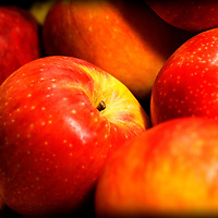 Apples, red, close up, macro