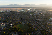 Aerials of Richmond, BC at sunrise