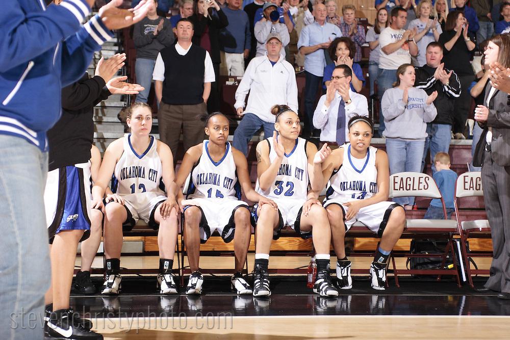 Oklahoma City Women's Basketball vs Oklahoma Baptist.SAC Tournament, Finals.March 11, 2008