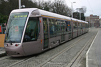 LUAS tram at St Stephens Green, Dublin, Ireland