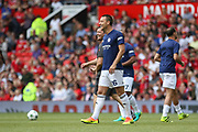 Michael Carrick All-Stars John Terry smiles  as he is bood by fans during the Michael Carrick Testimonial Match between Manchester United 2008 XI and Michael Carrick All-Star XI at Old Trafford, Manchester, England on 4 June 2017. Photo by Phil Duncan.