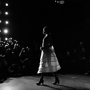 A model walks the runway during the Morgane Le Fay Fall 2016 fashion show during New York Fashion Week at the High Line Hotel in New York City, New York on February 16, 2016.