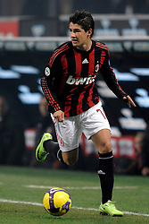 Alexandre Pato in action during the Serie A match against Fiorentina on January 17, 2009 at San Siro Stadium in Milan. AC Milan defeated Fiorentina 1-0.