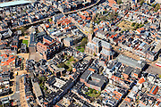 Nederland, Groningen, Groningen, 01-05-2013; Groningen-stad, centrum. Vismarkt met  De Korenbeurs, A-kerkhof met der Aa-kerk. Linksboven Hoge der A en Lage der A.<br /> View the city of Groningen, old town. <br /> luchtfoto (toeslag op standard tarieven)<br /> aerial photo (additional fee required)<br /> copyright foto/photo Siebe Swart