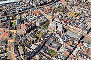 Nederland, Groningen, Groningen, 01-05-2013; Groningen-stad, centrum. Vismarkt met  De Korenbeurs, A-kerkhof met der Aa-kerk. Linksboven Hoge der A en Lage der A.<br /> View the city of Groningen, old town. <br /> luchtfoto (toeslag op standard tarieven)<br /> aerial photo (additional fee required)<br /> copyright foto/photo Siebe Swart