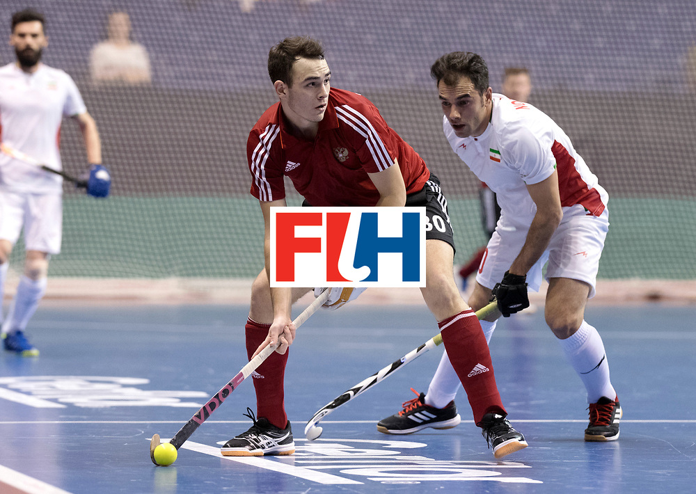 BERLIN - Indoor Hockey World Cup<br /> Men: Iran - Russia<br /> foto: AGAFONTSEV Aleksandr.<br /> WORLDSPORTPICS COPYRIGHT FRANK UIJLENBROEK