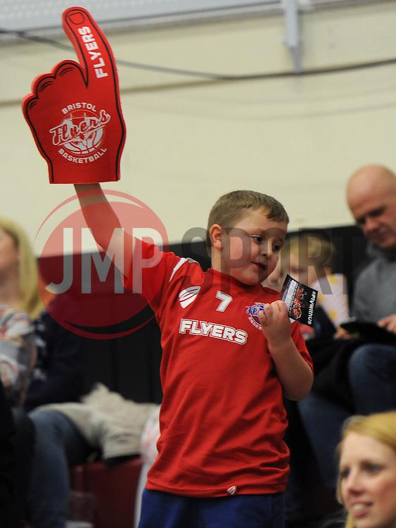 Bristol Flyers fan - Photo mandatory by-line: Dougie Allward/JMP - Mobile: 07966 386802 - 13/02/2015 - SPORT - Basketball - Bristol - SGS Wise Campus - Bristol Flyers v Surrey United - British Basketball League
