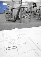 Monroe, New York - Blueprints in the interior of the new South Orange Family YMCA on Friday, Feb. 4, 2011.