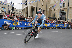 May 4, 2018 - Jerusalem, ISRAEL - Belgian Tosh van der Sande of Lotto Soudal pictured in action during the first stage of the 101st edition of the Giro D'Italia cycling tour, an individual time trial (9,7km) in Jerusalem, Israel, Friday 04 May 2018...BELGA PHOTO YUZURU SUNADA FRANCE OUT (Credit Image: © Yuzuru Sunada/Belga via ZUMA Press)