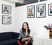 """Laura Sparavigna, 24 anni, consigliere di circoscrizione quartiere 4 Firenze. """"In forma latente la passione politica c'è in molte più persone di quante si crede, ma fare lo scatto e dire a se stessi 'ora mi impegno in prima persona' è più difficile. Per ragioni sociali: la rivoluzione digitale ha avuto tanti pro ma anche il contro di creare una macro-individualizzazione della società. E per ragioni storiche: noi nati negli anni '90 abbiamo conosciuto la politica dall'entrata in campo di Berlusconi in poi, dove le parole chiave erano corruzione e slealtà. Il che in molti ha creato sfiducia, impedendo lo scatto. Rinunciare all'io per dedicarsi al bene collettivo, che poi è il principio del volontariato: questa è la militanza politica, e credo sia un principio comune anche ai miei coetanei che si ritrovano nella destra"""".   Laura Sparavigna, 24 years old, councilwoman in one neighbourhood in Florence. Vie Nuove historical party headquarter of Partito Comunista Italiano and now of Partito Democratico, Firenze."""