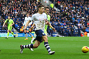 Preston North End Striker Jordan Hugill during the Sky Bet Championship match between Preston North End and Huddersfield Town at Deepdale, Preston, England on 6 February 2016. Photo by Pete Burns.