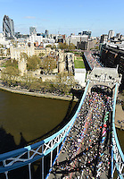 Tower Bridge during  The Virgin Money London Marathon 2014. Sunday 13 April 2014<br /> <br /> Photo: Bob Martin/Virgin Money London Marathon<br /> <br /> media@london-marathon.co.ukTower Bridge during  The Virgin Money London Marathon 2014. Sunday 13 April 2014<br /> <br /> Photo: Bob Martin/Virgin Money London Marathon<br /> <br /> media@london-marathon.co.uk