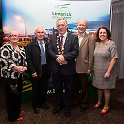 10.10. 2017.          <br /> Pictured at the Limerick Going for Gold 2017 finals in the Strand Hotel were, Mayor of the City and County of Limerick Cllr Stephen Keary with members of the Bruff Tidy Towns group, Eleanor Lyons, Jerry Garvey and Maurice Lyons with Sinead McDonnell, Limerick City and County Council.<br /> <br /> <br /> Limerick Going for Gold, which is sponsored by the JP McManus Charitable Foundation, has a total prize pool of over €75,000.  It is organised by Limerick City and County Council and supported by Limerick's Live 95FM, The Limerick Leader and The Limerick Chronicle, The Limerick Post, Parkway Shopping Centre, I Love Limerick and Southern Marketing Media & Design. Picture: Alan Place