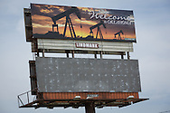 Welcome  to Oklahoma billboard from the oil and gas industry on Interstate 40.