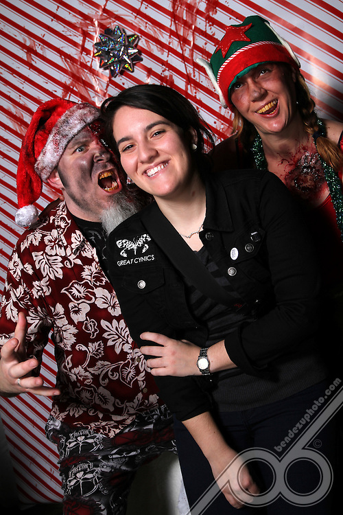 """The 1st Annual """"ZANTAGEDDON"""" - held at Will's Pub on 12-15-2012 with our hosts """"Zanta"""" (Mandaddy of Gargamel!) and his Zombified helper """"Zelf"""" (Wife Tracy) was a hilarious success! Special thanx goes out to The Orlando Photography Studio, Mandaddy of Gargamel!, his Wife Tracy, Will, Heather Williams, Alicia Lyman & Tramaine Dion for making this happen!"""