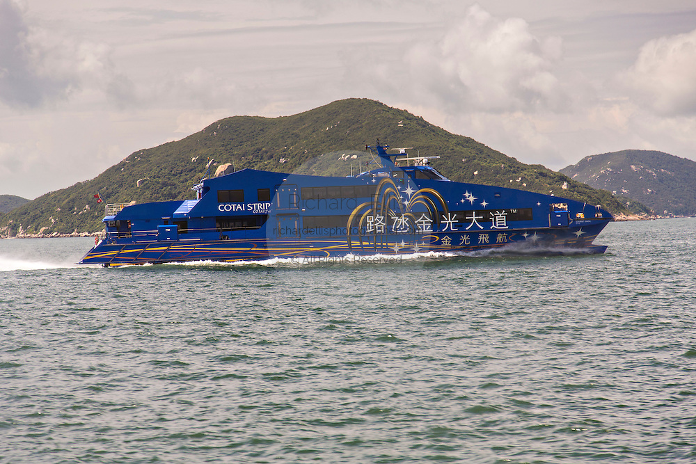 Cotai Water Jet ferry for Hong Kong to Macau.