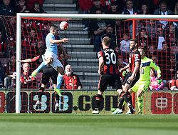 Sergio Aguero of Manchester City scores from a header - Mandatory by-line: Paul Knight/JMP - 02/04/2016 - FOOTBALL - Vitality Stadium - Bournemouth, England - AFC Bournemouth v Manchester City - Barclays Premier League