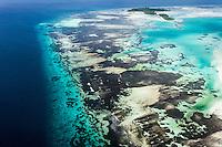 Aerial view of St Joseph Atoll and lagoon, D'Arros Island and St Joseph Atoll, Amirantees, Seychelles,