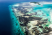 Aerial view of St Joseph Atoll and lagoon, D'Arros Island and St Joseph Atoll, Amirantees, Seychelles,