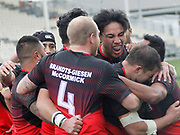 Fulltime here at AMI Stadium, Counties Manukau Stingrays hanging on for a 28-22 win over Rockcote Canterbury Bulls in a thrilling New Zealand Rugby League (NZRL) National Premiership opener. <br /> #BullsvStingraysNZRFL NATIONAL COMPETITION 2017<br /> ROCKCOTE CANTERBURY BULLS v COUNTIES MANUKAU STINGRAYS<br /> AMI Stadium, Christchurch<br /> 20170917<br /> Photo Kevin Clarke CMGSPORT<br /> &copy;cmgsport