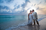 Barbados Beach Wedding Kiss Sunset