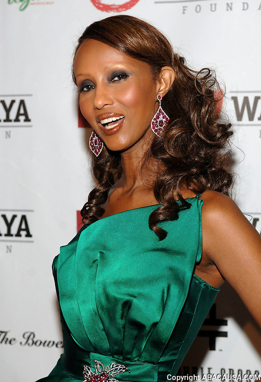 Model Iman poses at The 5th Annual Wayuu Taya Fundraising Gala at the Bowery Hotel on the Lower East Side in New York City, USA on June 5, 2008.