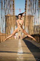 Dance As Art The New York Photography Project Brooklyn Bridge series with dancer Reshma Naureen.