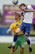 Bristol - Saturday May 1st, 2010: Jeff Hughes (R) of Bristol Rovers in action against Chris Martin of Norwich City during the Coca Cola League One match at The Memorial Stadium, Bristol. (Pic by Mark Chapman/Focus Images)..